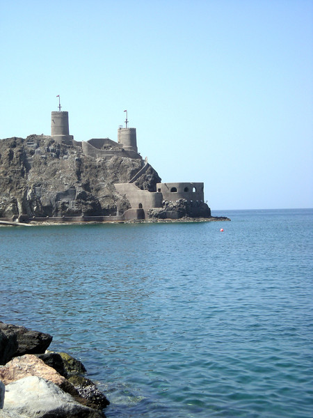 fort protecting Old Muscat harbor