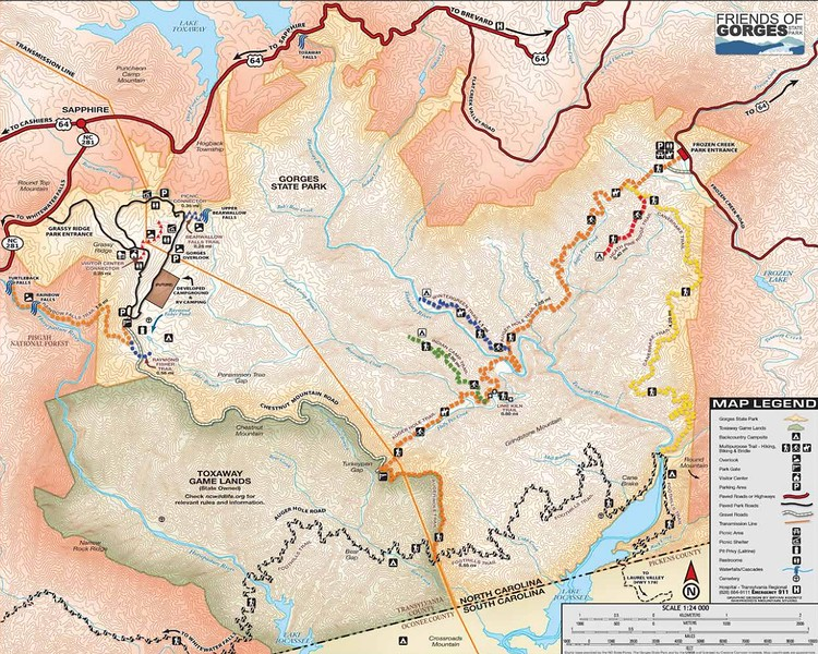 Gorges State Park (Trail Map)