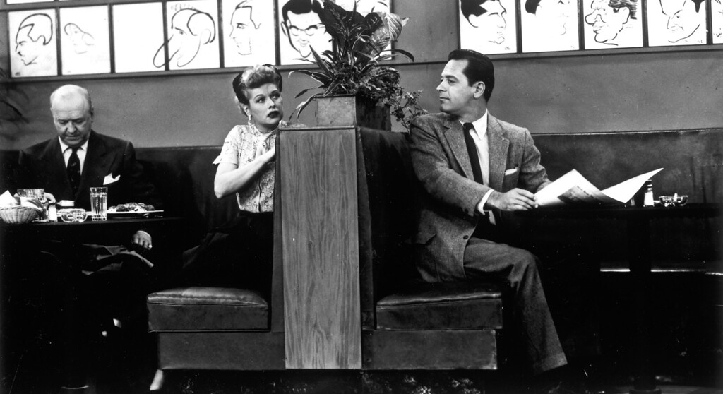 ". ""I Love Lucy\""  William Frawley, Lucille Ball and William Holden.   Los Angeles Daily News file photo"