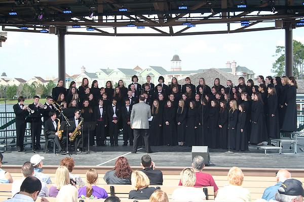 TRHS Music Dept. at Disney World