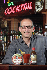 BUSINESS JOURNAL PHOTO BY MARCUS R. DONNER Demitri Pallis created the formula for Demitri's Bloody Mary Seasoning while tending bar at the New Orleans in Pioneer Square (pictured here).  It took Pallis about a year to perfect the formula he now sells in all 50 states.