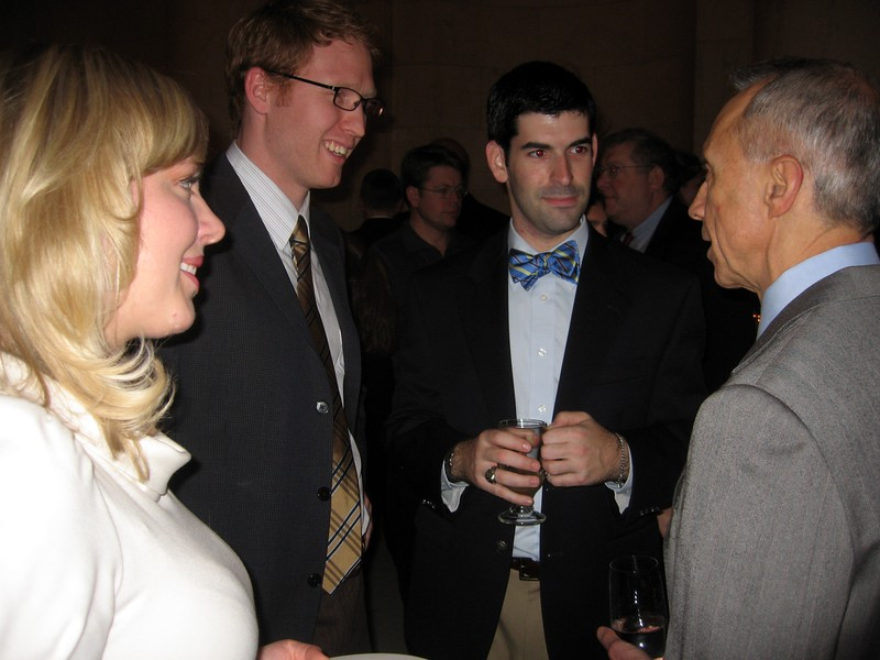 Katharine, Charlie, and David chat with Associate Justice David Souter