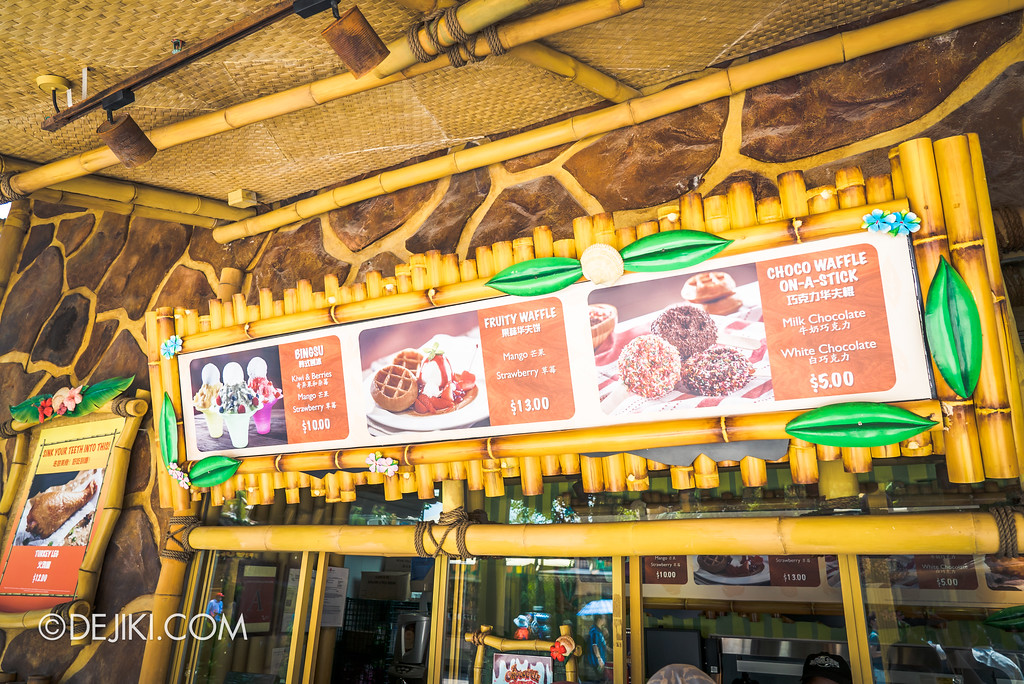 Universal Studios Singapore Park Update 2017 - Chocolate Adventure food - Gloria's Snack Shack new menu 3