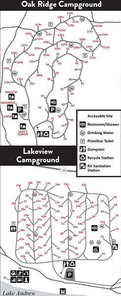 Sibley State Park (Campground Maps)