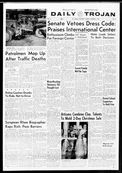 Daily Trojan, Vol. 52, No. 55, December 08, 1960