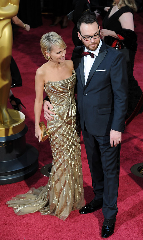 . Kristin Chenoweth and Dana Brunetti attend the 86th Academy Awards at the Dolby Theatre in Hollywood, California on Sunday March 2, 2014 (Photo by John McCoy / Los Angeles Daily News)