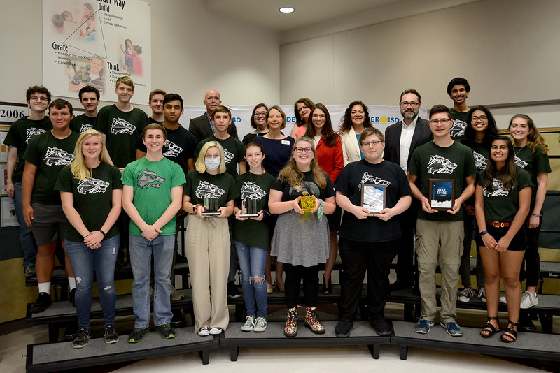 Cedar Park High School's RoboLobos robotics team, recognized for advancing to the FIRST Robotics World competition in the FRC division.