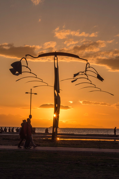 """A Calder-like mobile sculpture named """"Wish Tree"""" on the waterfront at Izmir"""