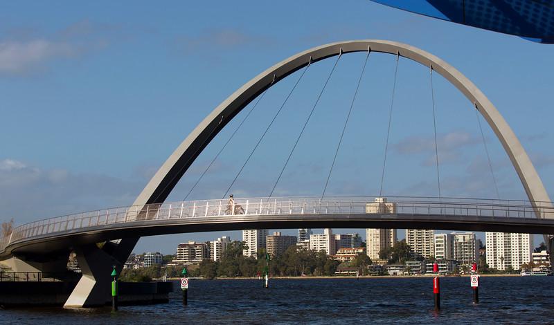 Elizabeth Quay Pedestrian Bridge.