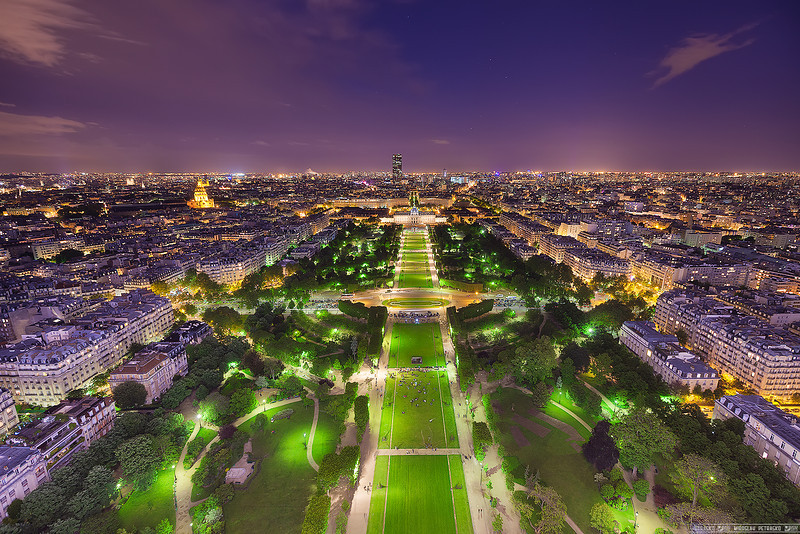 From the Eiffel tower