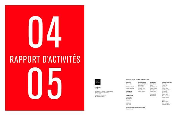 Rapport d'activités 2004-2005