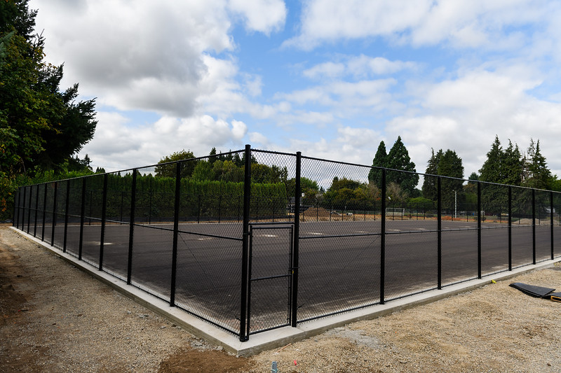New tennis court fencing at McNary High School on Friday, August 16, 2019, in Keizer, Ore.