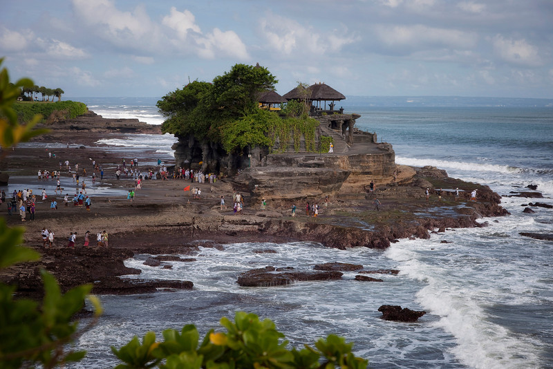 Tanah Lot Temple on ocean