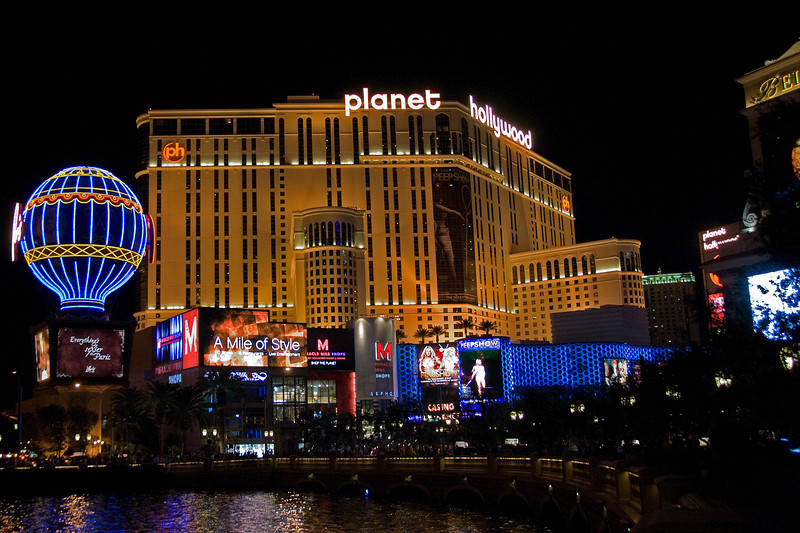 Planet Hollywood Resort & Casino at night - Las Vegas, Nevada