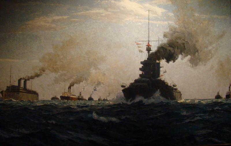 WW2 Atlantic Convoy - Artist Unknown