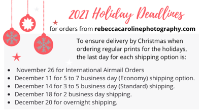 2021 RCP Holiday Deadlines