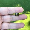 4.57ct Fancy Dark Greenish Yellow Brown Asscher Cut Diamond GIA 19