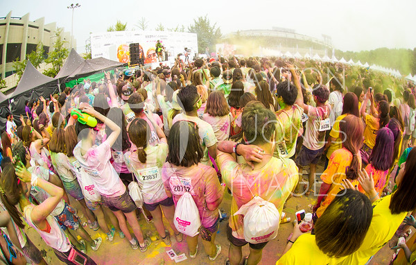 Color Me Rad 5K Korea, 7/19/2014