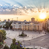 Sunset on St Sophia's Square, Kiev, Ukraine