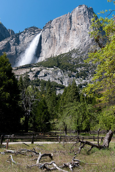 Yosemite Falls from the Toulumne Meadows in Yosemite National Park