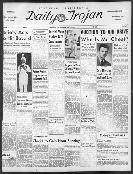 Daily Trojan, Vol. 39, No. 97, March 11, 1948