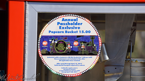 Disneyland Resort, Disneyland, Popcorn, Bucket, Annual Passholder, AP, Main Street Electrical Parade