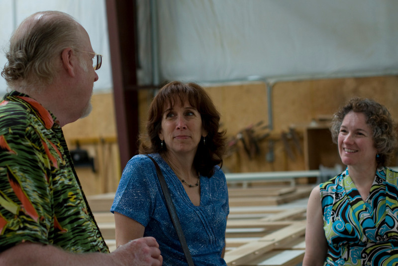 Gorden, Cindy, and our host, Kim in the carpentry workshop