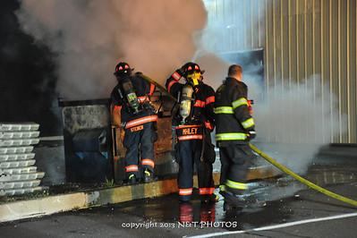 Dumpster fire in Hazleton 10-29-13