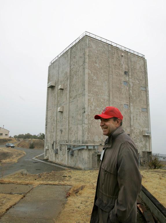 . 2008: Former radar operator Chuck Jeronimo visits the radar tower atop Mt. Umunhum.  (Patrick Tehan/Mercury News)