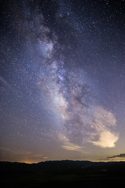 The Milky Way and some clouds