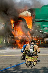 River Rd. Garbage Truck Fire (Shelton, CT) 7/1/14