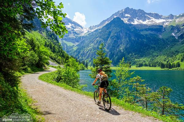 Tannheim mountains mountainbike roundtrip