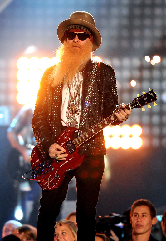 . Billy Gibbons performs onstage at the American Country Awards at the Mandalay Bay Resort & Casino on Tuesday, Dec. 10, 2013, in Las Vegas, Nev. (Photo by Frank Micelotta/Invision/AP)
