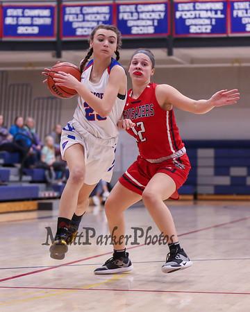 2020-1-10 WHS Girls Basketball vs Memorial