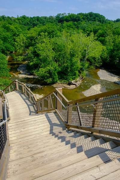 Rocky River Nature Center  Foot Hill Trail stairs - quite the engineering feat.