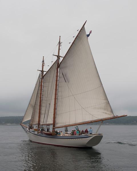 Windjammers in Boothbay Harbor Maine