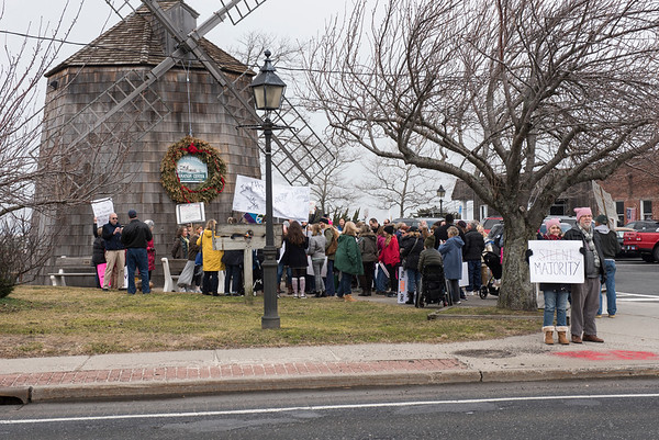 Sag Harbor Women's March Protest Against Trump Policies