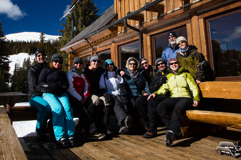 Here is our entire group from the hut trip!