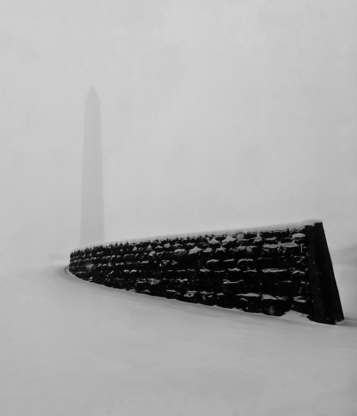 The Washington Monument in a Snow Storm