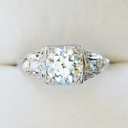 1.20ct Old European Cut Diamond Ring