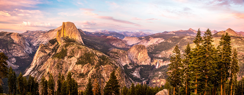 Nikon D810 12MP Wide Panorama!  Yosemite Half Dome Panorama from Glacier Point! Dr. Elliot McGucken Fine Art Landscape & Nature Photography for Los Angeles Fine Art Gallery Show !