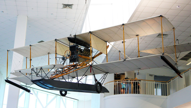 That afternoon we visit the National Naval Aviation Museum.  This is Glenn Curtiss' 1911 float plane.