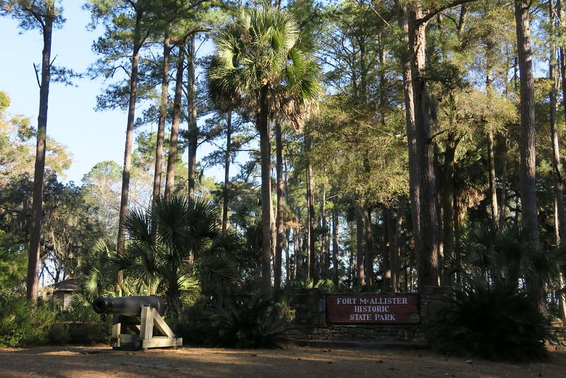 Fort McAllister Historic State Park Entrance