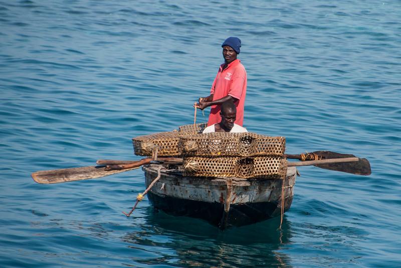Fishermen with traps - Labadee, Haiti
