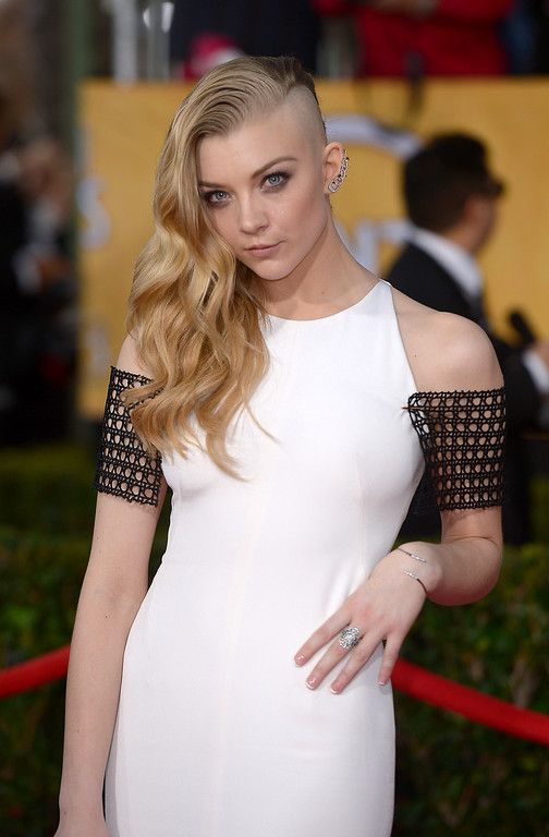 . Natalie Dormer arrives at the 20th Annual Screen Actors Guild Awards  at the Shrine Auditorium in Los Angeles, California on Saturday January 18, 2014 (Photo by Michael Owen Baker / Los Angeles Daily News)