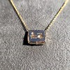 'For You I Live' 18kt Rose Gold Cast Rebus Pendant, by Seal & Scribe 19