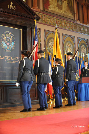 Georgetown University SROTC Commissioning, 18 MAY 12
