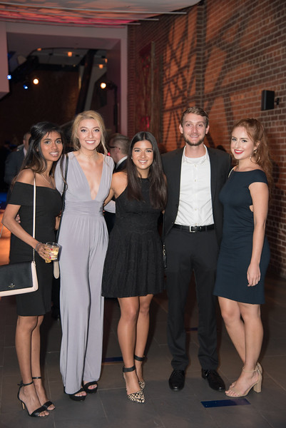 Payal Rana, Abbi Frings, Brad Watahobich, Jordan Fontenot, Avalon Jones, Atlas Performing Arts Center, Destination Atlas Party for a Purpose Gala, October 6, 2017. Photo by Ben Droz.