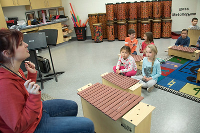 1st graders with ORFF instruments
