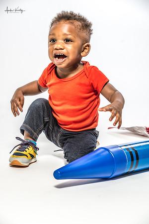 Jeremiah Smith-Jones 1st Birthday shoot with Mommy